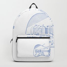 Electrical Guitar Vintage Patent Hand Drawing Backpack