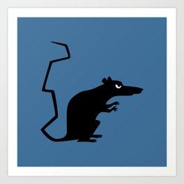 Angry Animals - Rat Art Print