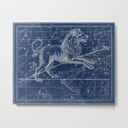 Leo sky star map Metal Print