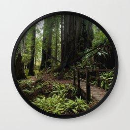 Redwood Roaming - California Wanderlust Wall Clock