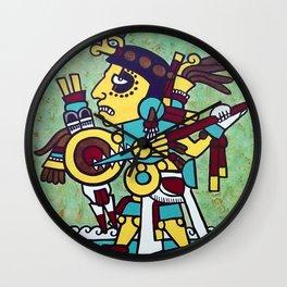 Mixtec Warrior Wall Clock