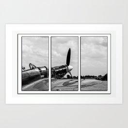 Hawker Hurricane Tryptych Art Print