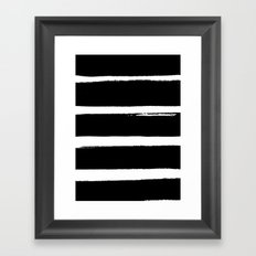 BLK Stripes Framed Art Print