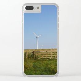 Scottish Wind Mills Clear iPhone Case