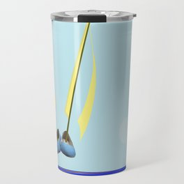 Flying with May towards the West in May - shoes stories Travel Mug
