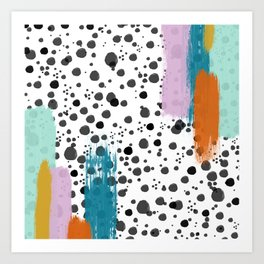 Swatches + Spots II Art Print