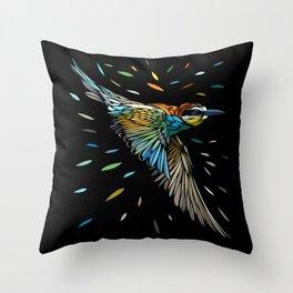 Tribal tropical sparrow Throw Pillow