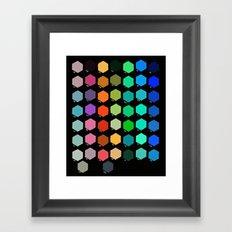 Darth Color Chart Framed Art Print