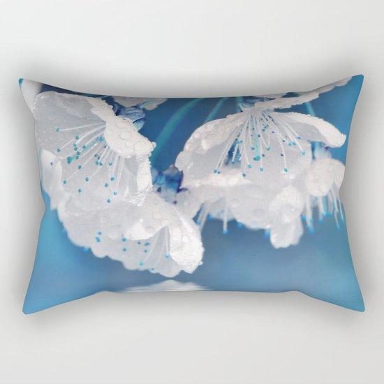 Spring blue 233 Rectangular Pillow