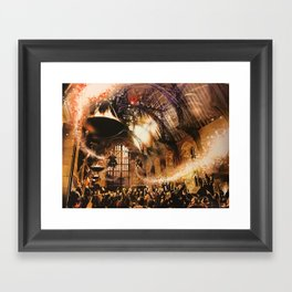 Fred and George Weasley Flying in Hogwarts Great Hall Framed Art Print