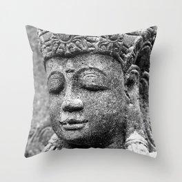 Buddha BW Throw Pillow