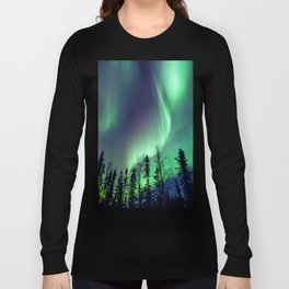 Northern Lights in Yellowknife Long Sleeve T-shirt