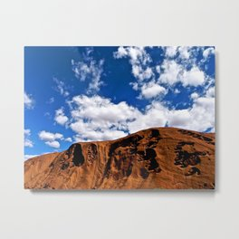 A clear day at Uluru. Metal Print