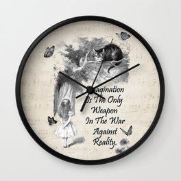 Alice In Wonderland Quote - Imagination Wall Clock
