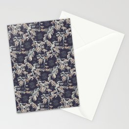 Water Swingers in Night Out ( leafy sea dragon pattern in navy and cream ) Stationery Cards