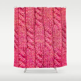 Knitting_015_by_JAMFoto Shower Curtain