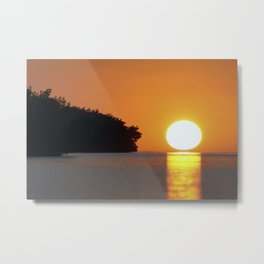 Everglades Sun Metal Print