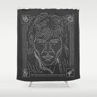 han solo Shower Curtains featuring Han Solo by Jon Deviny