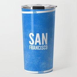 This is SF (Blue) Travel Mug