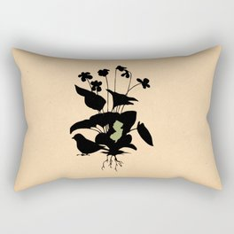 New Jersey - State Papercut Print Rectangular Pillow