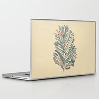 leaf Laptop & iPad Skins featuring Turning Over A New Leaf by Monica Gifford