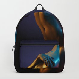 Nude Woman Bathed in Light Backpack