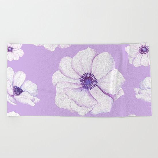 Anemones 2 #society6 #buyart Beach Towel