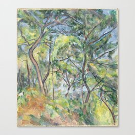 Paul Cézanne - Sous-Bois Canvas Print