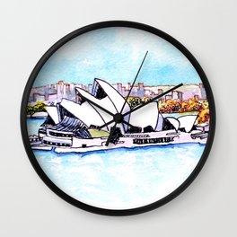 Sydney Opera House Panorama Wall Clock
