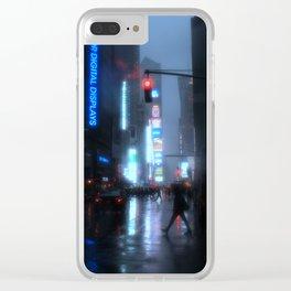 NYC Rain II Clear iPhone Case