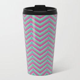 Hot Pink & Mint Metal Travel Mug