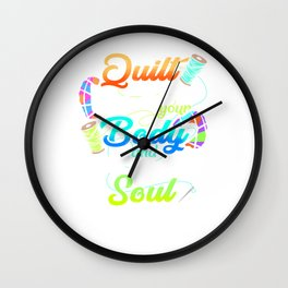 A Quilt Will Warm Your Body Crochet Wall Clock