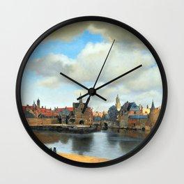 Johannes Vermeer View of Delft Wall Clock