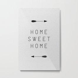 Home Sweet Home Arrow Metal Print
