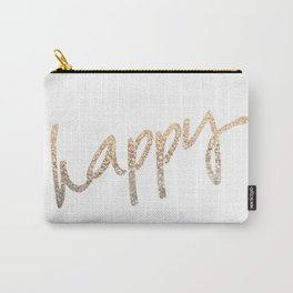 GOLD HAPPY Carry-All Pouch