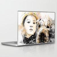 best friends Laptop & iPad Skins featuring Best Friends by Fresh Doodle - JP Valderrama
