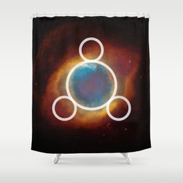 SILVER 10 Shower Curtain