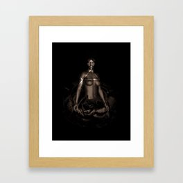 Black Queen Artistic Nude African American Woman  Rose  Framed Art Print