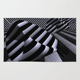 Steiner's Surface in OpArt-design Rug