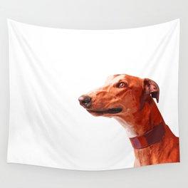 Orange Greyhound. Pop art dog portrait Wall Tapestry