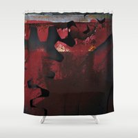 metal gear Shower Curtains featuring Gear by Fernando Vieira