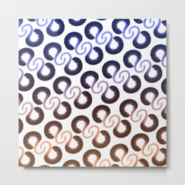 Orange and blue pattern Metal Print