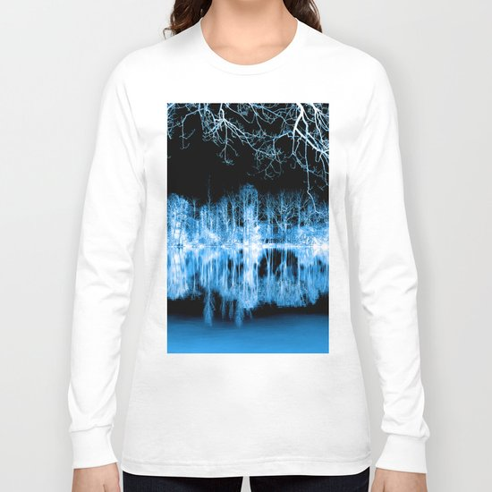 Lake Nights Reflections Long Sleeve T-shirt