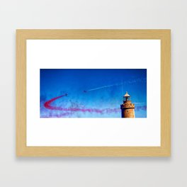 Red Arrows Display in Guernsey Framed Art Print
