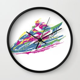 Jetski print Wall Clock