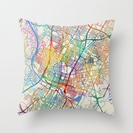 Austin Texas City Map Throw Pillow