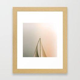 Minimal Sail Framed Art Print
