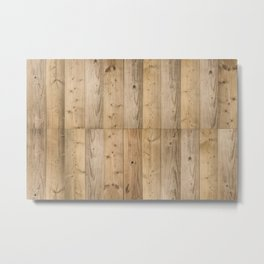 Wood Planks Light Metal Print