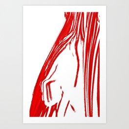 Penis like a fist Art Print