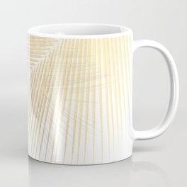 Palm leaf synchronicity - gold Coffee Mug
